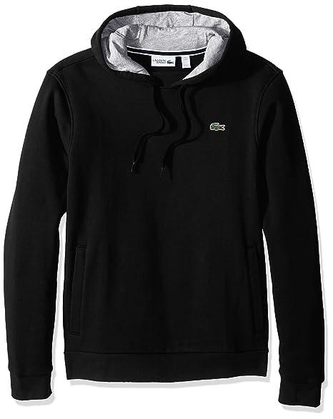reputable site 9964f ef726 Lacoste Men's Sport Pull Over Hoodie Fleece Sweatshirt