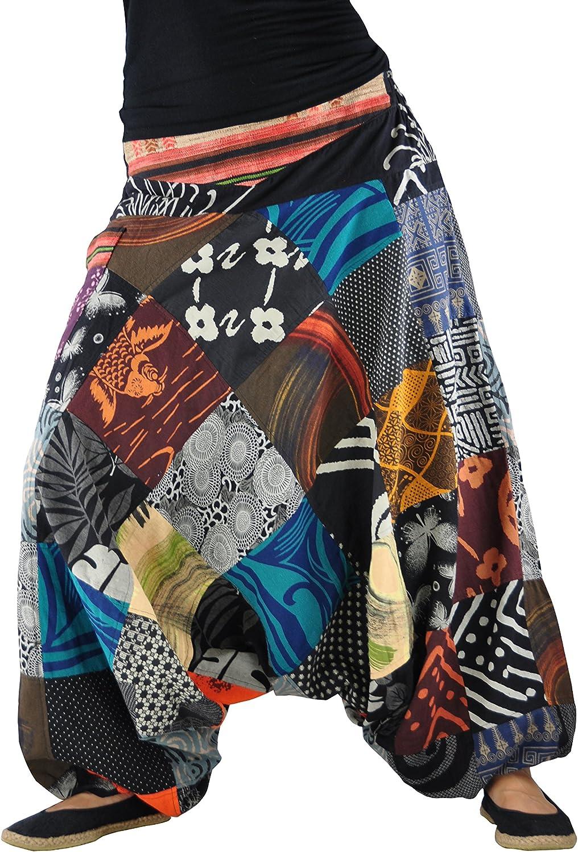 virblatt Harem Pantaloni Uomo e Donna Dipinti a Mano e Tessuto Etnico Acchiappasogni