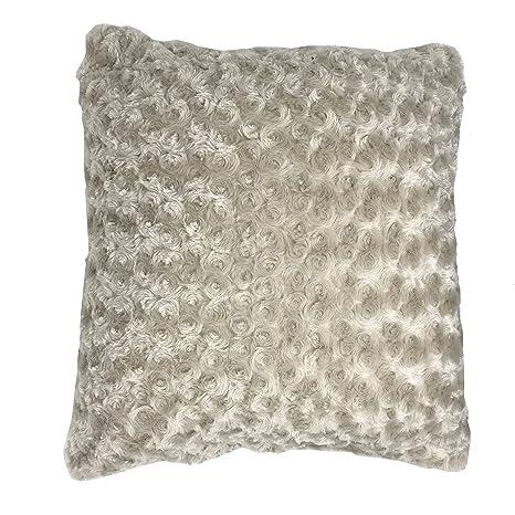 Lancashire Textiles - Cojín de Piel sintética (45 x 45 cm ...