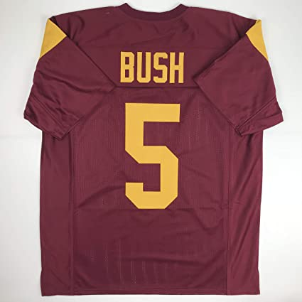86c1d8c4e Image Unavailable. Image not available for. Color  Unsigned Reggie Bush USC  Red Custom Stitched College ...