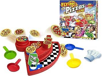 Flying Pizzas Juego de diversión familiar: emocionante juego para la noche de juego familiar, 4 +: Amazon.es: Juguetes y juegos