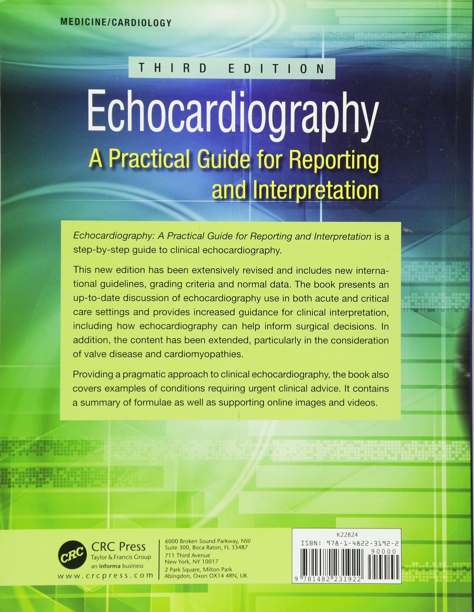 echocardiography a practical guide for reporting and interpretation third edition