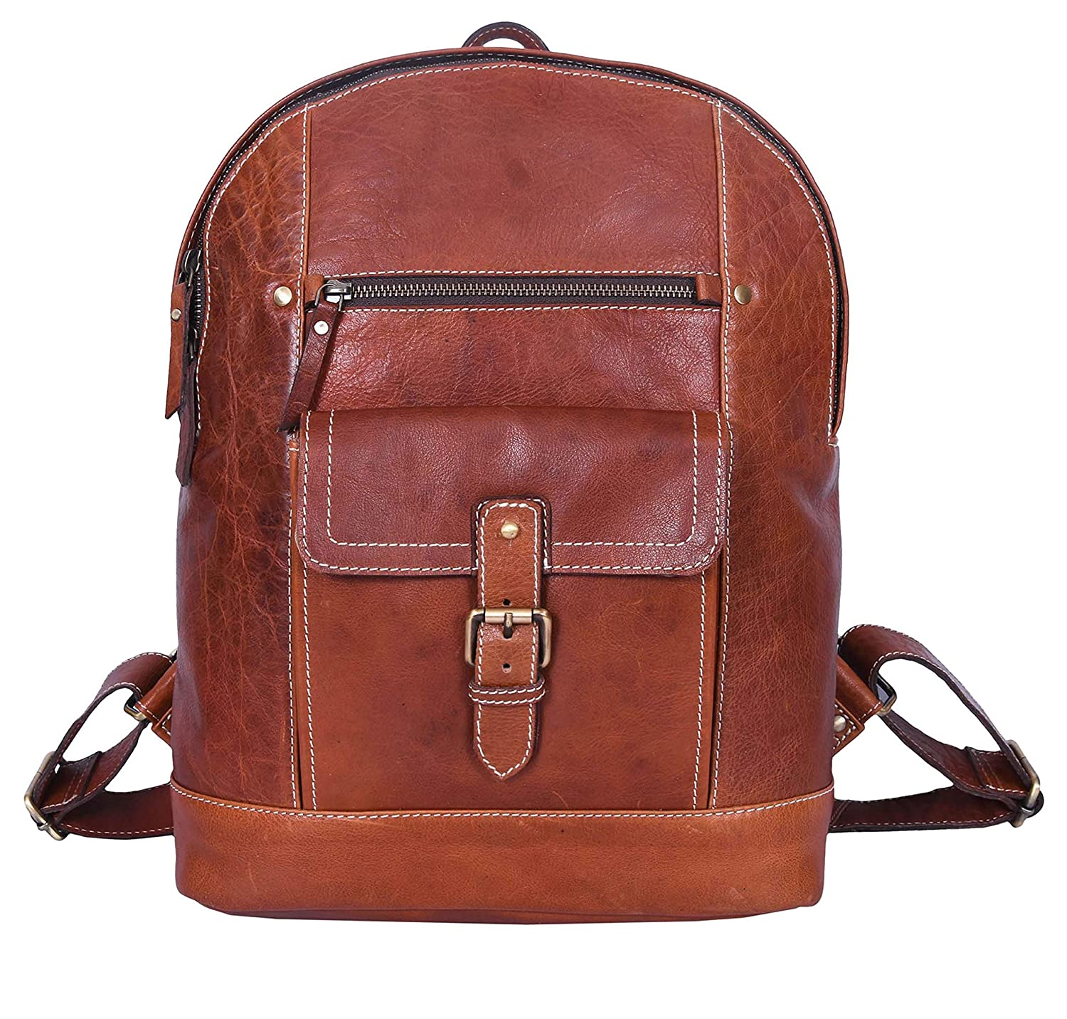 Leather Backpack Laptop Backpack Rucksack Bag by Aaron Leather Goods