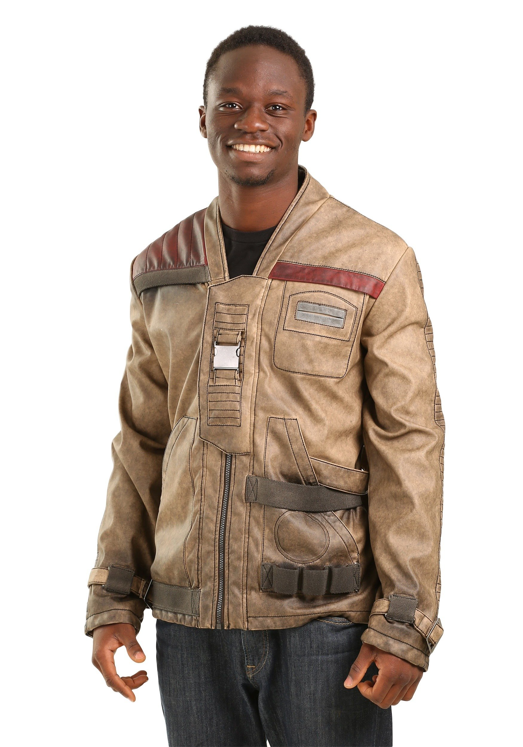 Mighty Fine Star Wars Finn Faux Leather Adult Jacket (X-Large)