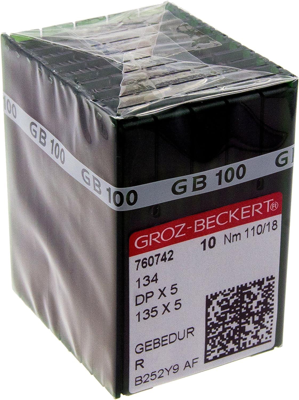 100 GROZ-BECKERT GEBEDUR 134 MR // 135X5 MR Titanium Quilting Machine Needles MR 4.0 110//18