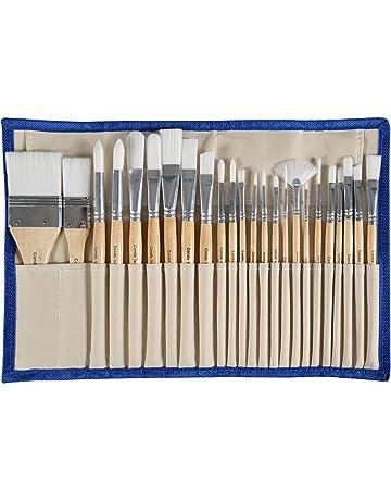 LIXIAQ1 5Pcs//Set Art Paint Brushes Set Long Handle Artist Painting Supplies for Watercolor Oil Painting,Black
