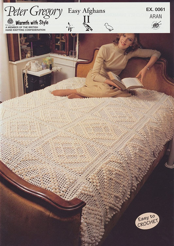 Peter Gregory Aran Crochet & Knitting Pattern - EX0061 Easy Afghans ...