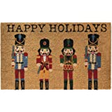 """Elrene Home Fashions Farmhouse Living Nutcracker Holiday Coir Doormat for Entryway/Front Door/Porch, 18""""x30"""" Mat"""