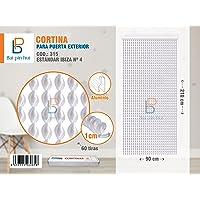 BAI PIN HUI (COD.315) Cortina para puerta exterior, Modelo IBIZA, 60 tiras, Color: BLANCO, Materiales: plástico y…