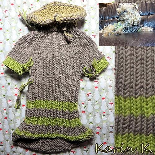 Hunde- Pullover in Taupe, Oliv und Lindgrün/ Pullover für den ...