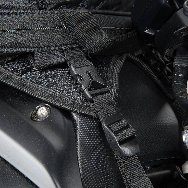 Sacoche de r/éservoir Moto XLmoto Volume 20L Extensible 28L Noir /à Sangles Convertible Sac /à Dos Housse de Pluie Incluse