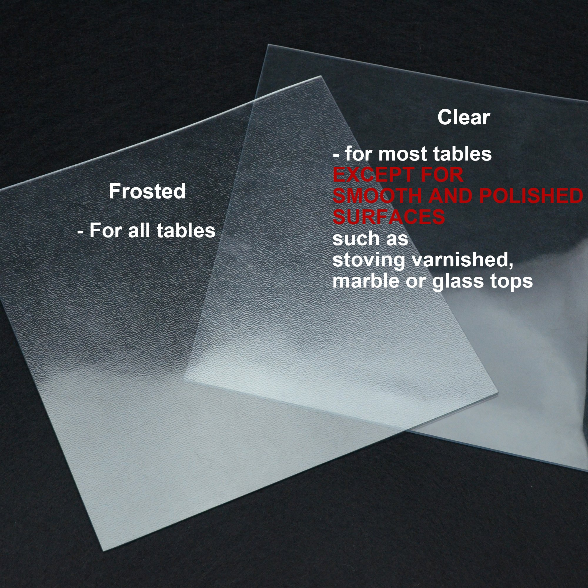 ETECHMART Clear PVC Table Top Protector Round 2.0mm Multi Size Dia. 60 Inches Customized by ETECHMART (Image #8)