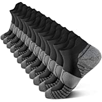 PAPLUS Compression Running Socks Women (6 Pairs), Ankle Athletic Socks Low Cut with Arch Support