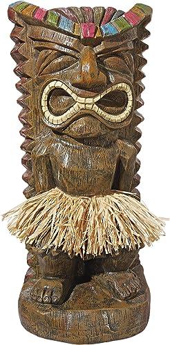Design Toscano Pau Hana Hawaiian Tiki Totem Statue: Set of Two