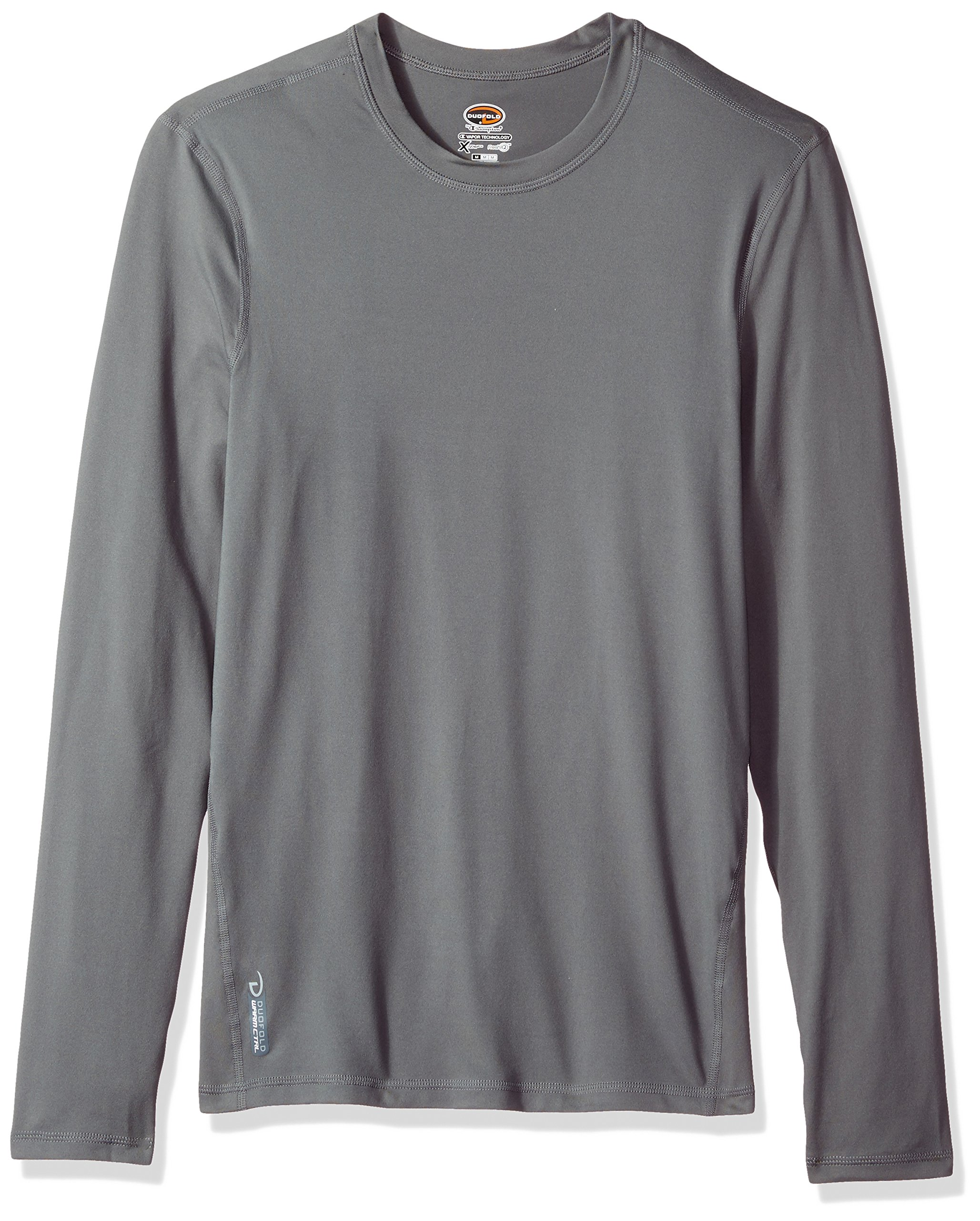 Duofold Men's Flex Weight Thermal Shirt, Thundering Gray, Medium