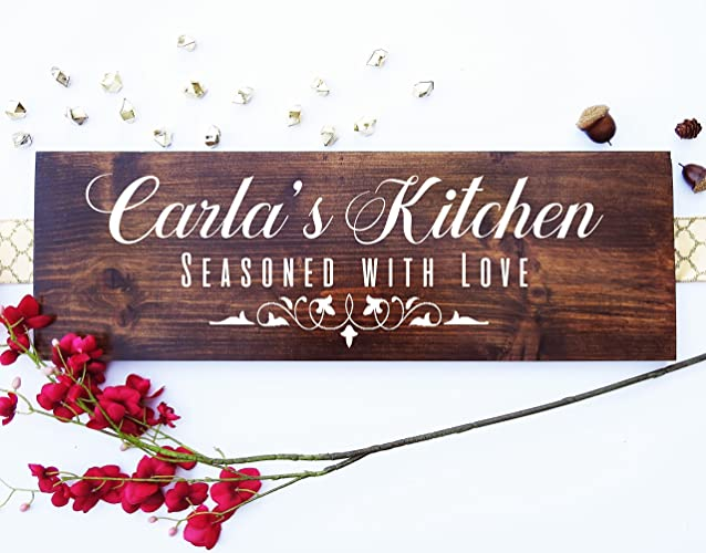 Perfect Handmade Custom Wood Sign, Personalized Kitchen Signs Gifts Decor Items  Kitchen Decor Art Gift For