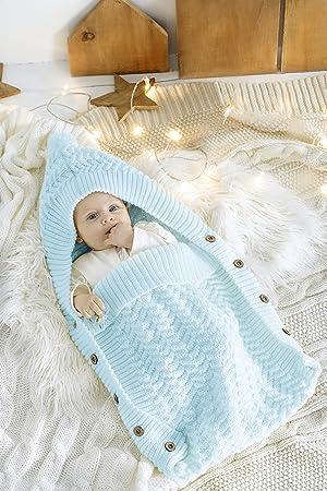 Tejido a mano Baby manta de algodón en tamaño 71 x 38 cm – Manta,