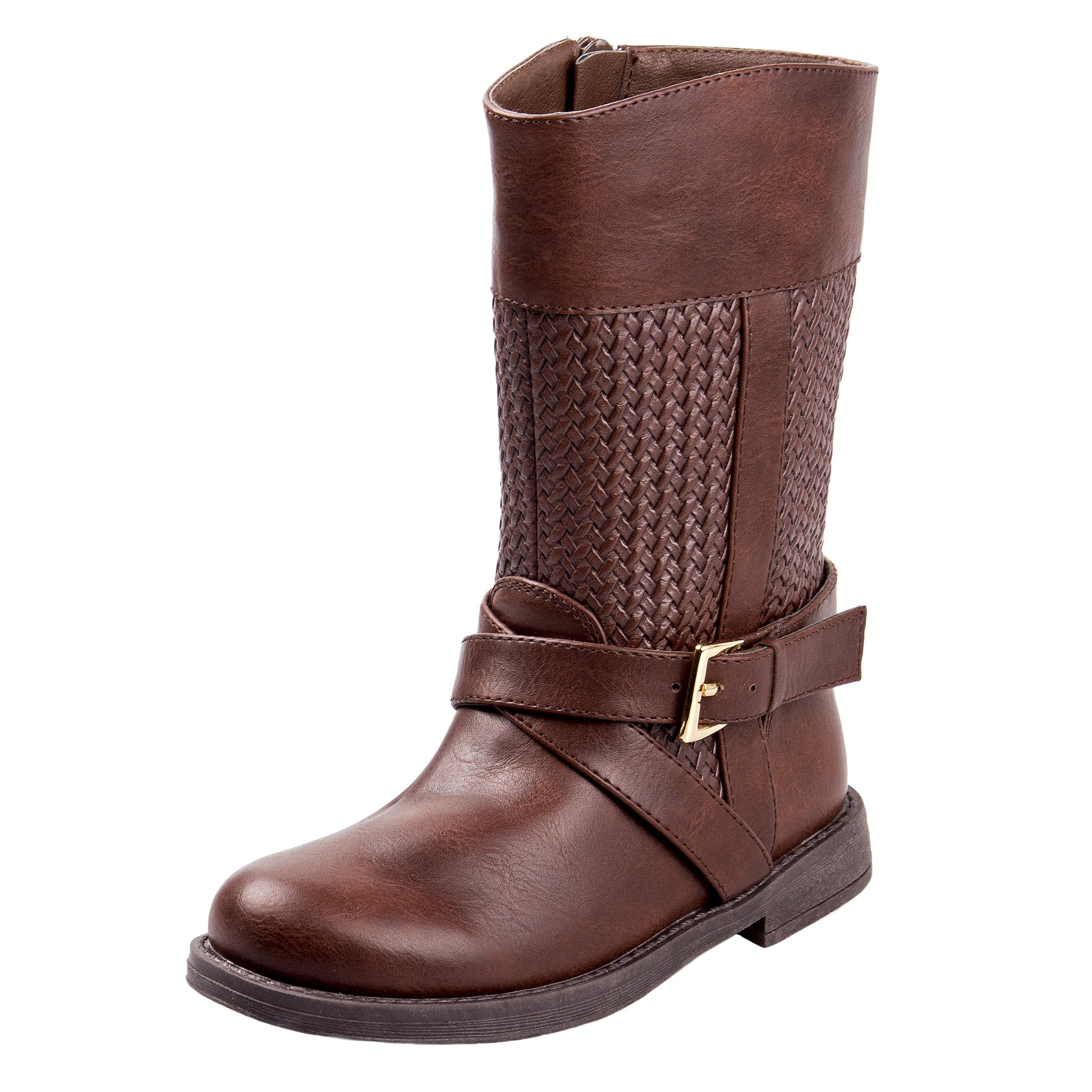 Laura Ashely Toddler Girls Woven Calf Length Riding Boot, Brown, Size 6 US Toddler'