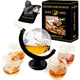 Whiskey Decanter – Best Ship Whiskey Decanter Set (30oz) with nice Gift Box – Ideal Christmas gifts for men - Housewarming gifts for new home –  Globe Decanter for Scotch or Liquor