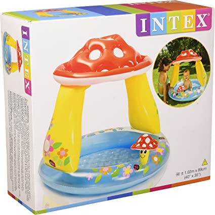 Intex - Piscina Techo Seta, 102x89 cm, 45 litros: Amazon.es ...