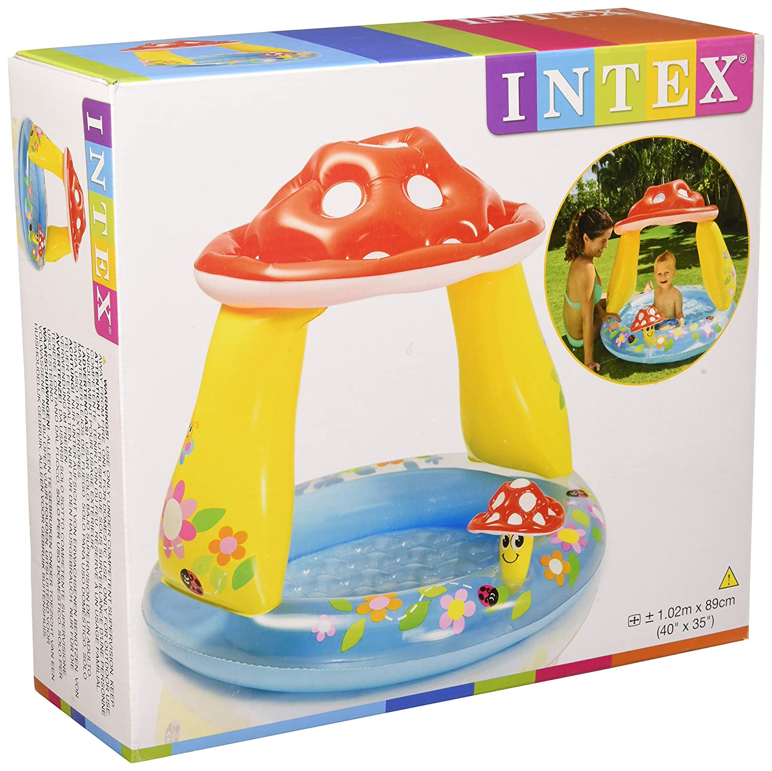 Intex 57114 - Piscina Baby Fungo, 102 x 89 cm, Blu/Rosso Intex Amazon IT 57114NP