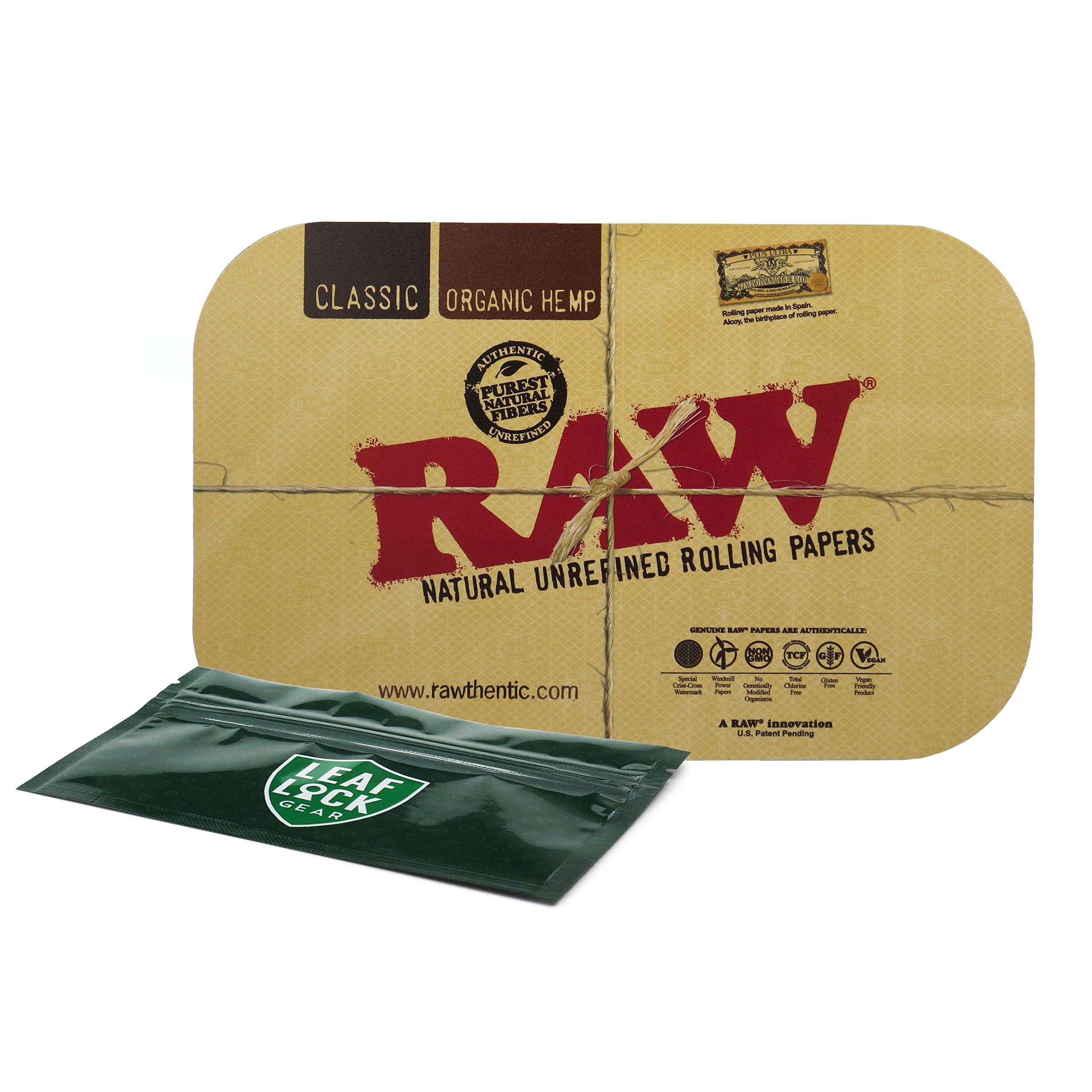 RAW Magnetic Small Rolling Tray Cover with Leaf Lock Gear Smell Proof Pouch