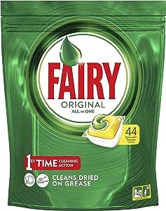 Fairy Original All in One Dishwasher Capsules, 44 Pack, Lemon