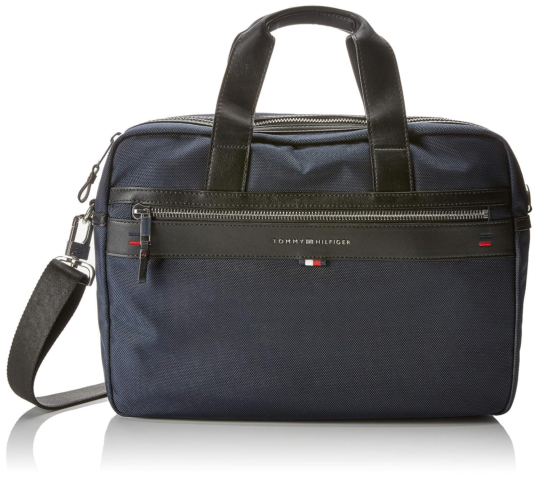 Tommy Hilfiger - Elevated Computer Bag, Bolsas para portátil Hombre, Azul (Tommy Navy/Core Stp), 9.5x30x40 cm (B x H T): Amazon.es: Zapatos y complementos