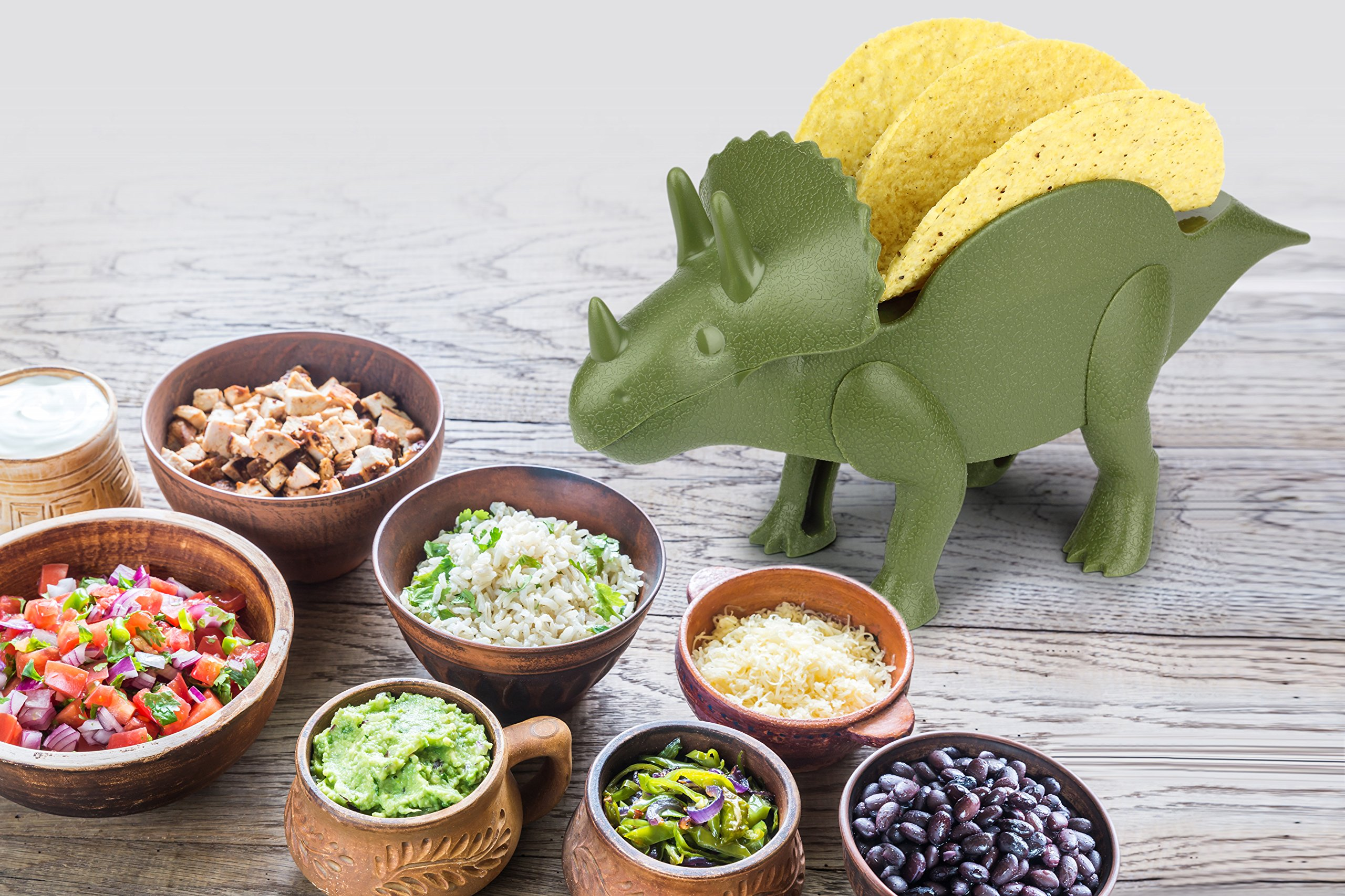 KidsFunwares TriceraTACO Taco Holder - The Ultimate Prehistoric Taco Stand for Jurassic Taco Tuesdays and Dinosaur Parties - Holds 2 Tacos - The Perfect Gift for Kids and Kidults that Love Dinosaurs by KidsFunwares (Image #5)