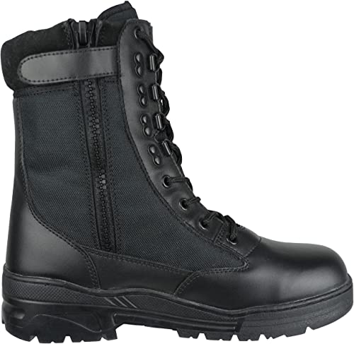 463ec95c16c Savage Island Combat Boots Black Leather Side Zip Army