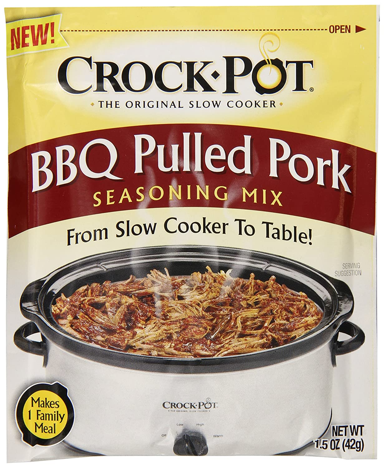 Crock Pot Seasoning Mix, BBQ Pulled Pork, 1.5 Ounce (Pack of 12)