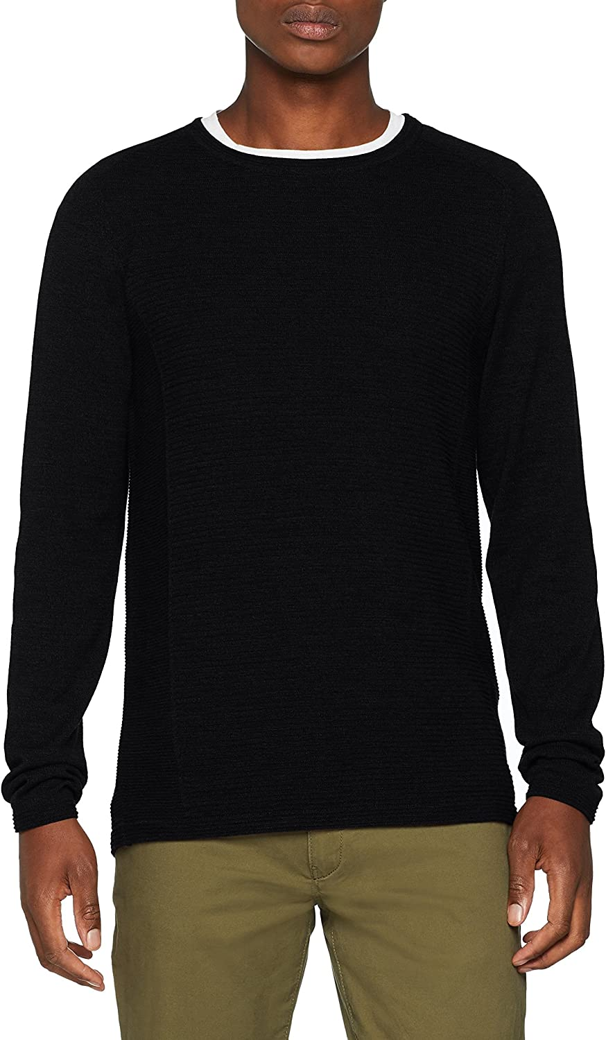 SELECTED HOMME Slhbakes Crew Neck B Noos suéter para Hombre