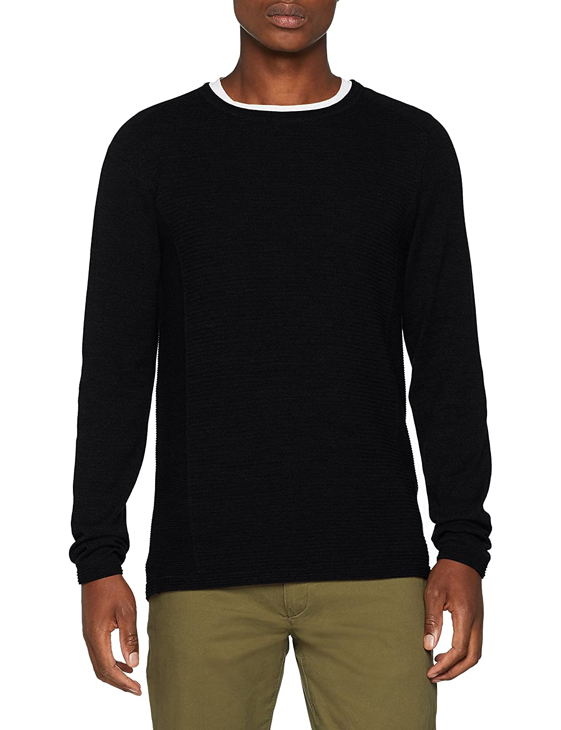 SELECTED HOMME Slhbakes Crew Neck B Noos, suéter para Hombre
