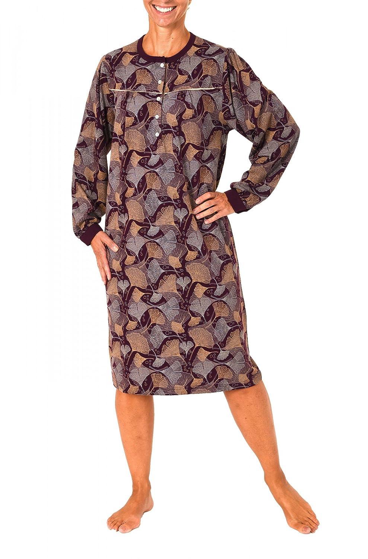 271 210 90 108 Elegantes Damen Nachthemd mit Tupfendruck in 105 cm Länge
