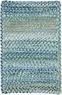 "product image for Capel Rugs Ocracoke Cross Sewn Rectangle Braided Area Rug, 36"" x 36"", Light Blue"