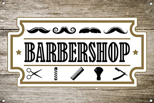 The Metal Sign Shack Barber Shop 1069 - Cartel de Metal ...
