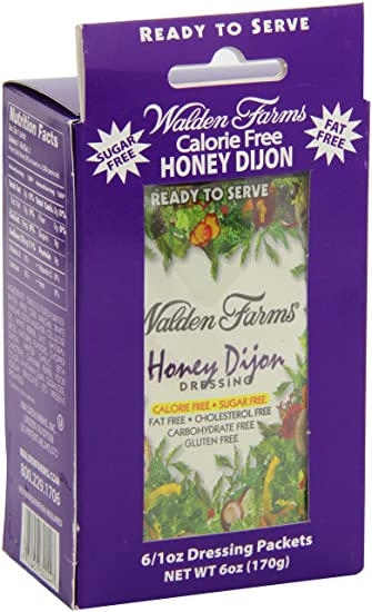 Walden Farms Honey Dijon Dressing 6 sobres de 28 g