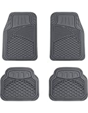 AmazonBasics 4 Piece Heavy Duty Car Floor Mat, Gray