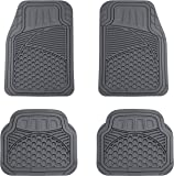 AmazonBasics Alfombrilla para coche, 4 piezas, gris