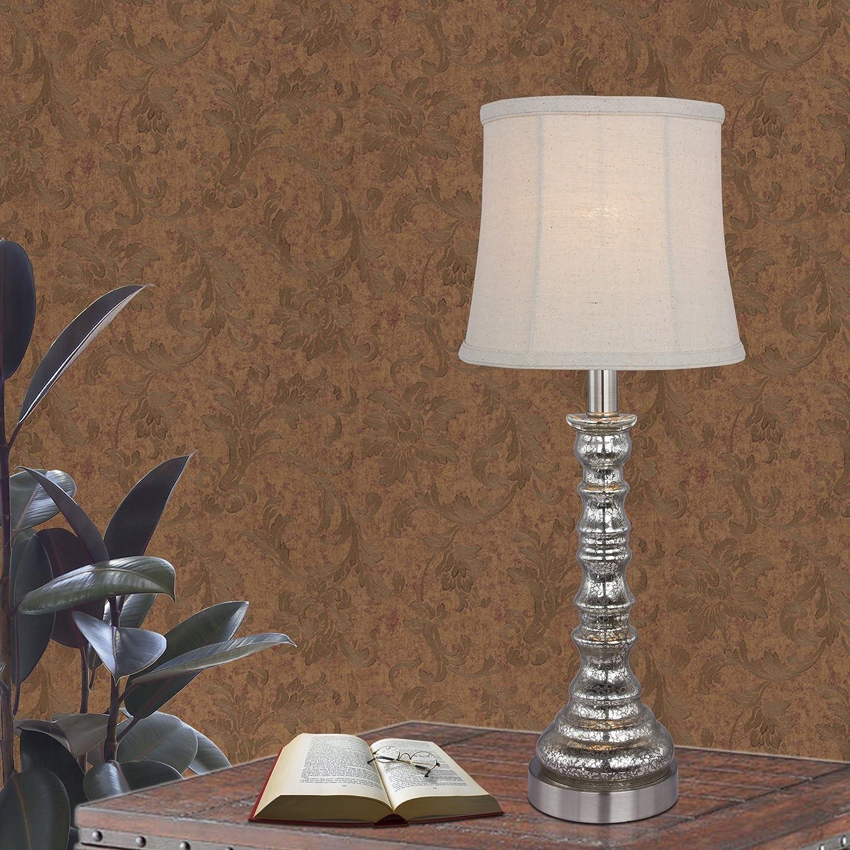 Fangio Lighting W-5100 Table Lamp 21 Mercury Glass//Brushed Steel