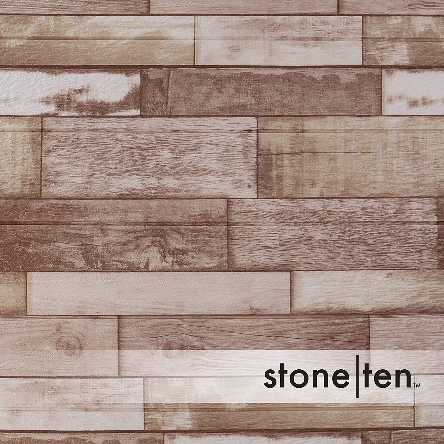 3D Wall Panels for Fake Wood Wall Faux Wood Wall Panels Rustic Charm 20 Pack 3D Wood Wallpaper - Self Adhesive Wood Look Wall Panels Peel and Stick Foam Wood Paneling