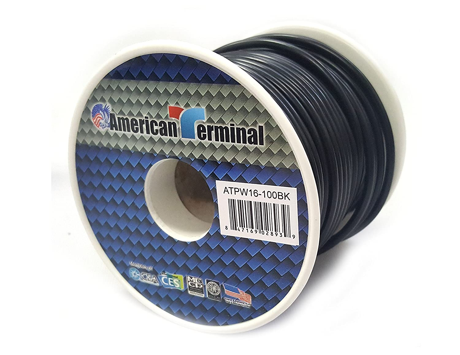 Pink Absolute USA Inc. American Terminal ATPW16-100PK 16 Gauge Primary Wire