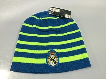 Real Madrid FC Blue/Neon Winter Beanie (OSFM)