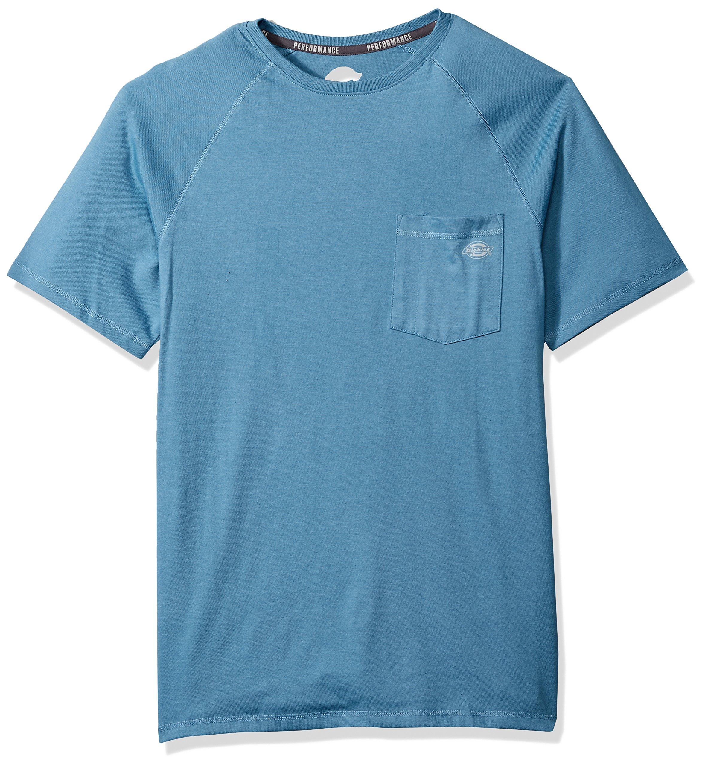 Dickies Men's Short Sleeve Performance Cooling Tee, Dusty Blue, XL