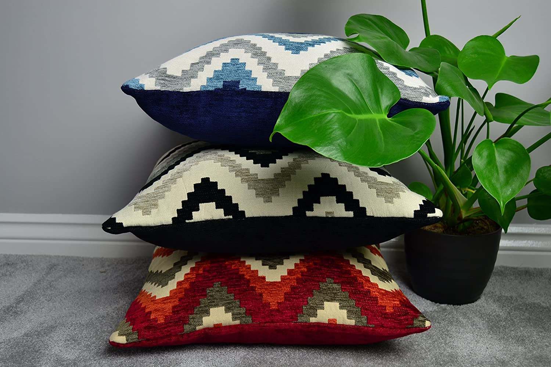 McAlister McAlister McAlister Textiles Aztec Kollektion   Kissenbezug im geometrischen Navajo-Muster 60cm x 60cm in Rot & Orange   Deko Kissenhülle für Zierkissen, Sofa, Bett, Couch B06X9QLM7N Zierkissenbezüge 1e09a7