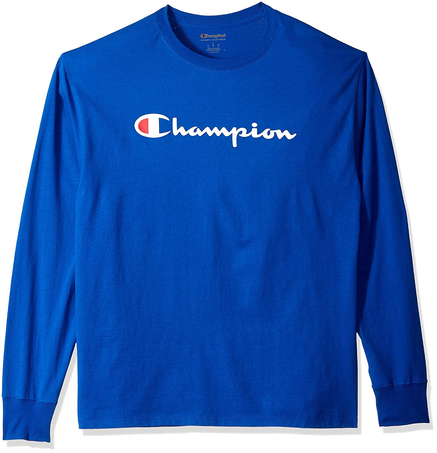 b73536f6e7f Champion Men's Classic Jersey Long Sleeve Graphic T-Shirt