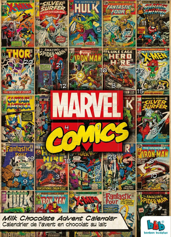 Marvel Superheroes Hulk Captain America Spider-Man Advent Milk ...