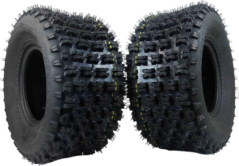 2 Set 20x10-9 Rear Left and Righ ATV UTV Tubeless Tire 4PR P336 Fit for Yamaha Raptor Banshee//Honda 400ex 450r 660 700 400 450 350 250