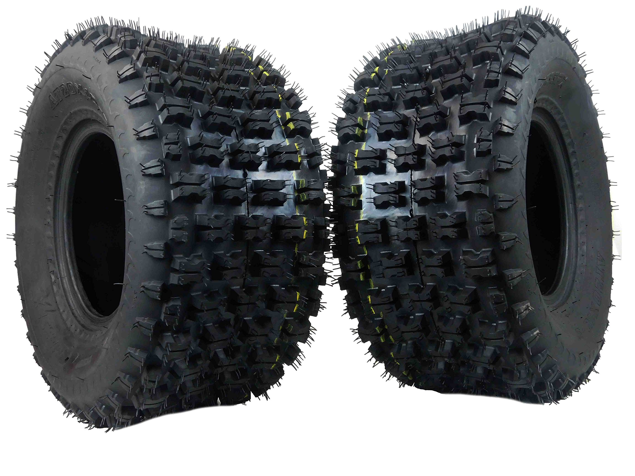 New MASSFX ATV Sport Quad Tires Two Rear 20X10-9 4 Ply Tires For Yamaha Raptor Banshee Honda 400ex 450r 660 700 400 450 350 250 (Set of 2 rear 20x10-9)