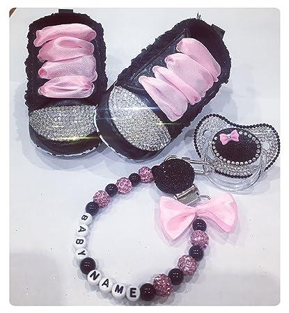 Juego de zapatos para bebé, chupete, clip personalizado con ...